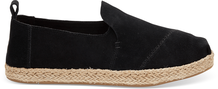 Black Suede Women's Deconstructed Alpargatas