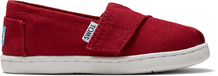 Red Canvas Tiny TOMS Classics 2.0