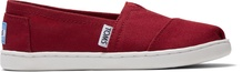 Red Canvas TOMS Youth Classic Alpargatas