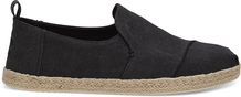 Black Washed Canvas Men's Deconstructed Alpargatas