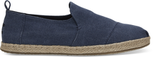 Navy Washed Canvas Men's Deconstructed Alpargatas