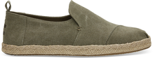 Olive Washed Canvas Men's Deconstructed Alpargatas