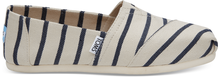 White Navy Riviera Stripe Women's Classics Venice Collection