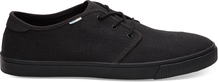 Black on Black Heritage Canvas Men's Carlo Sneaker Topanga Collection