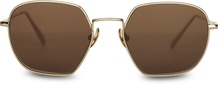 Sawyer Shiny Gold Solid Brown Polarized