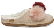 Rose Cloud Pom Pom Women's Ivy Slippers