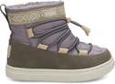 Lavender Quilted Synthetic Leather Water Resistant Tiny TOMS Alpine Boots