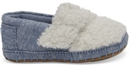 Chambray Shearling Crib Alpargata