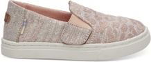 Rose Cloud Cheetah Embroidery Twill Glimmer Tiny TOMS Luca Slip-Ons