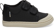 Black Textural Canvas Tiny TOMS Lenny Mid Sneakers