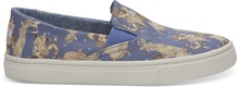 Disney X TOMS Blue Snow White Youth Luca Slip-Ons