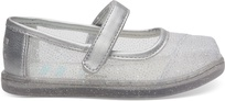 Disney X TOMS Silver Cinderella Glitter Mesh Tiny Mary Jane