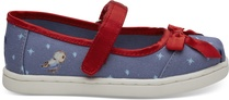 Disney X TOMS Blue Snow White Bow Tiny Mary Jane