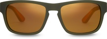 TRAVELER by TOMS Eben Matte Rifle Green Gold Mirror Lens