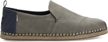 Drizzle Grey Washed Canvas Men's Deconstructed Alpargatas