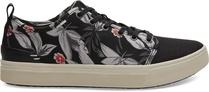 Black Floral Print Men's TRVL LITE Low Sneakers