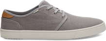 Drizzle Grey Heritage Canvas Men's Carlo Sneakers Topanga Collection