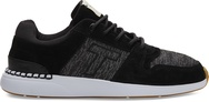 Black Pig Suede- Mini Jersey Stripe Mix Mens Arroyo Sneakers