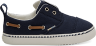 Navy Canvas Tiny TOMS Pasadena Slip-Ons