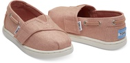 Coral Pink Shimmer Canvas Tiny TOMS Biminis