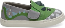 Grey Dino Glow in the Dark 3D Tiny TOMS Luca Slip-Ons