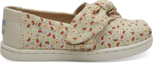 Birch Local Floral Print- Bow Tiny TOMS Classics