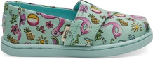 Mint Poolside Floaties Print Tiny TOMS Classics