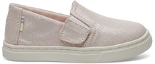 Pink Iridescent Droplets Tiny TOMS Luca Slip-Ons