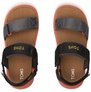 Black Solid Webbing Tiny Ray Sandals