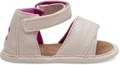 Pink Iridescent Droplets Tiny TOMS Shiloh Sandals
