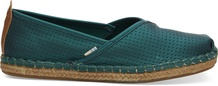 Emerald Matte Iridescent Synthetic Women's Petra Slip-Ons