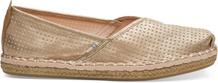 Champagne Shimmer Synthetic Women's Petra Slip-Ons