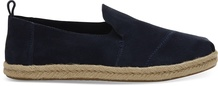 Navy Suede Deconstructed Women's Alpargatas