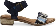 Navy Suede-Coupe Denim Camilia Women's Sandals