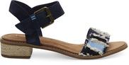 Navy Suede-Coupe Denim Camilia Women's Sandals