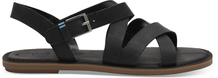 Black Leather Women's Sicily Sandals