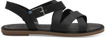 Black Leather Sicily Sandal