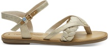 Natural Shimmer Canvas Women's Lexie Sandals
