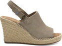Desert Taupe Suede Women's Monica Wedges
