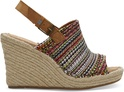 Cherry Tomato Global Woven Women's Monica Wedges