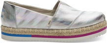 Iridescent Canvas Women's Platform Alpargatas