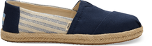 Navy Ivy League Stripes Women's Espadrilles