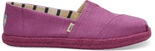 Red Plum Canvas on Mono Rope Women's Alpargatas