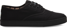 Black on Black Canvas Men's Cupsole Cordones Venice Collection