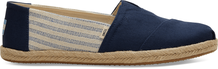Navy Canvas Striped Ivy League Men's Espadrilles