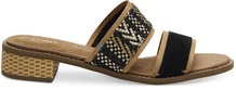 Black Suede Geometric Woven Mariposa Women's Sandals