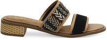 Black Suede Geometric Woven Mariposa Women's Sandals