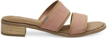 Coral Pink Suede Mariposa Women's Sandals