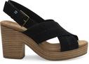 Black Suede Ibiza Women's Sandals