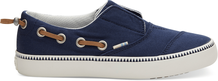 Navy Canvas Youth Pasadena Slip-Ons